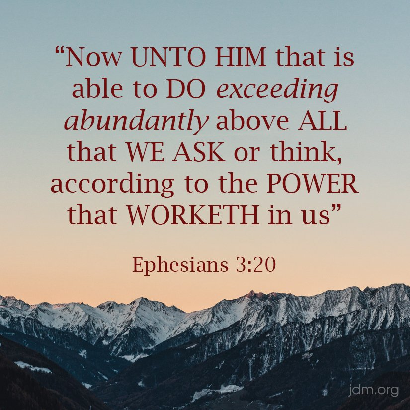 Unto him who is able to do exceedingly above