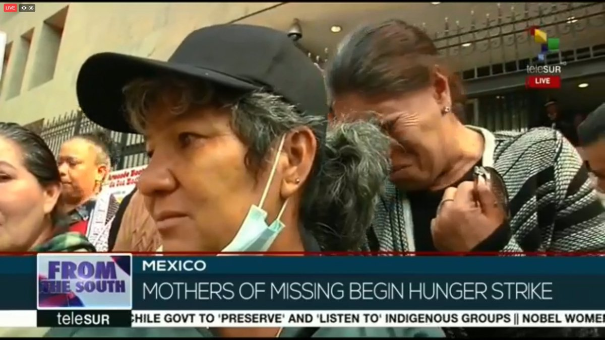 From The South | Mexican mothers are in search of their missing children. They are now striking in front of the Attorney General's Office of Mexico.