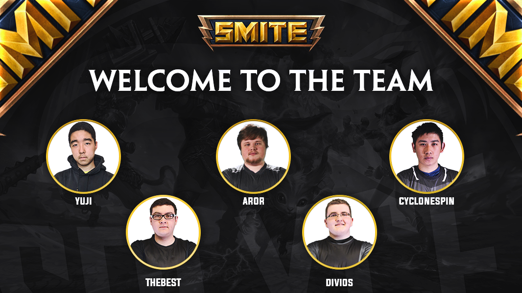 Announcing the Splyce @SmitePro roster....