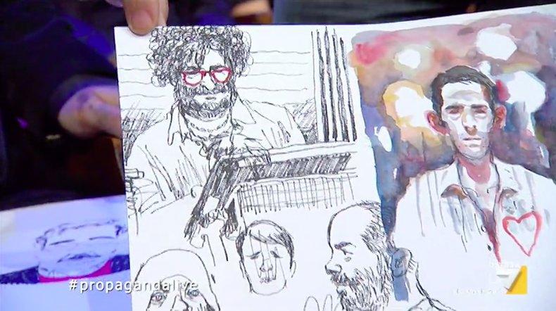 Quello che è stato disegnato da Paolo Virzì e da Gipi durante la puntata  #propagandalive https://t.co/aLFMqffll9