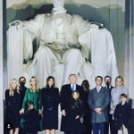 Amazing pic from one year ago today from the eve of the inauguration. The whole family at the foot of The Lincoln Memorial was absolutely surreal. It was then that the magnitude of everything we had and would experience finally hit me. #maga #dc  #flashbackfriday #flashback