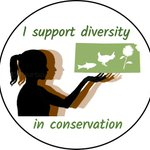 Just designed a button for #WomeinSTEM and #diversity event at the Kansas Natural Resources conference with tons of useful advice from  @derektoplasm. I'm pretty happy with it! #KNRC2018