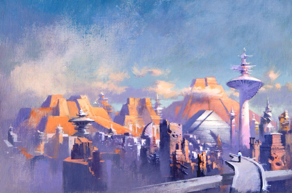 Fantastic sci-fi cities imagined by Chris Foss, John Harris, Brian Lewis, and Alex Schomburg. #scifi #architecture https://t.co/8akLOrDaQ4