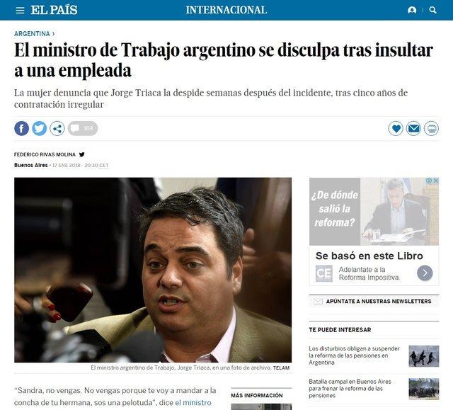 RT @matilbebordagar: #viernesintratable   EL MUNDO HABLA DE MACRI Y SU MINISTRO DE TRABAJO https://t.co/rRDvHuGiYD