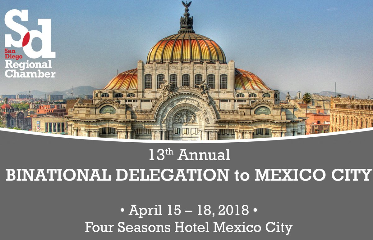 Save the date for our Annual Binational Delegation trip to Mexico City happening April 15 - 18th. More details: https://t.co/P0OPKpjl34