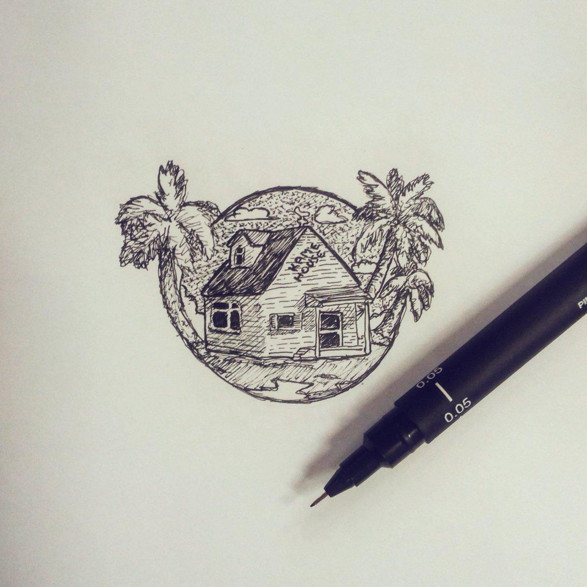 Kame House #illustration #dragonball #sketchbook https://t.co/0YvBYMDUz0
