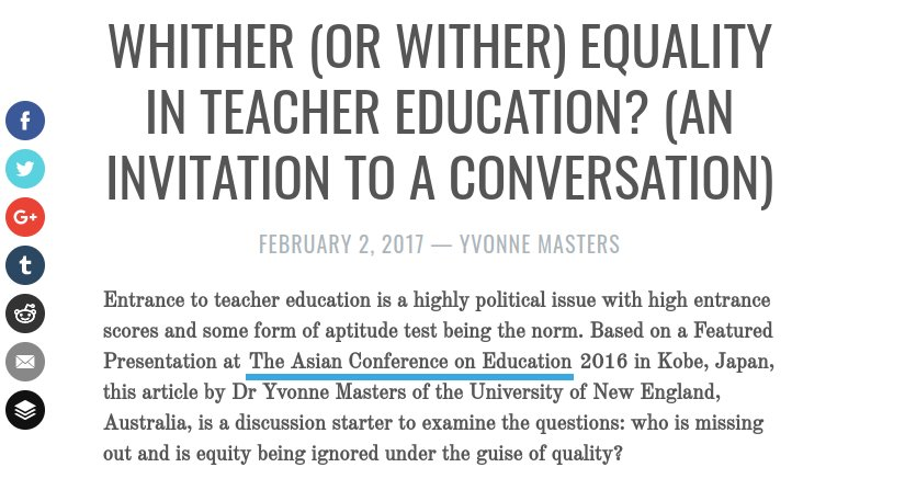 Iafor on twitter whither or wither equality in teacher education 527 pm 24 jan 2018 stopboris Gallery