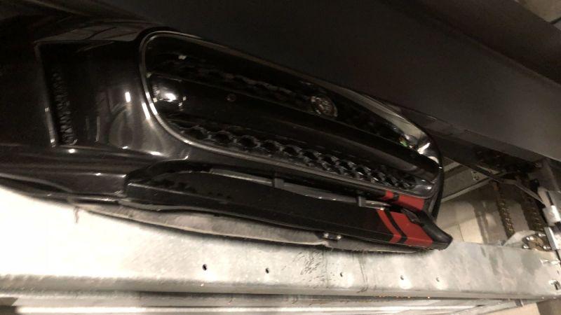 Automated parking lift nightmarishly smashes this guy's Jaguar F-Type R https://t.co/9krY6FKVvT