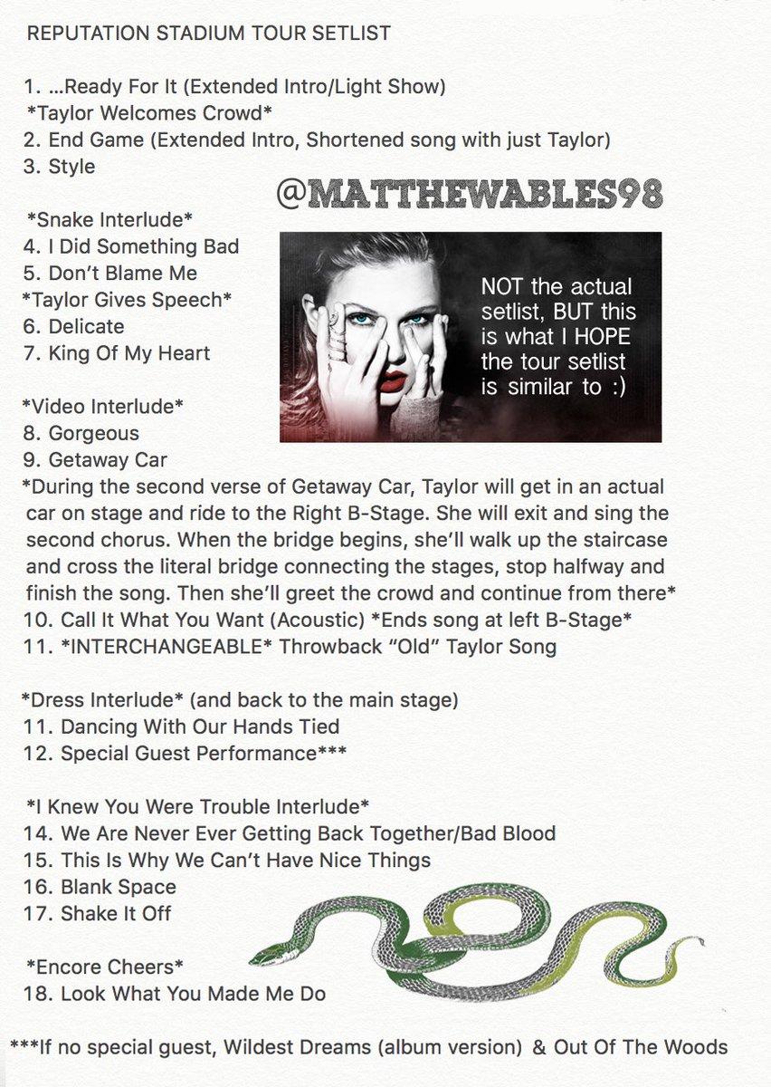 Reputation Tour Setlist Encore | Funkhouser News