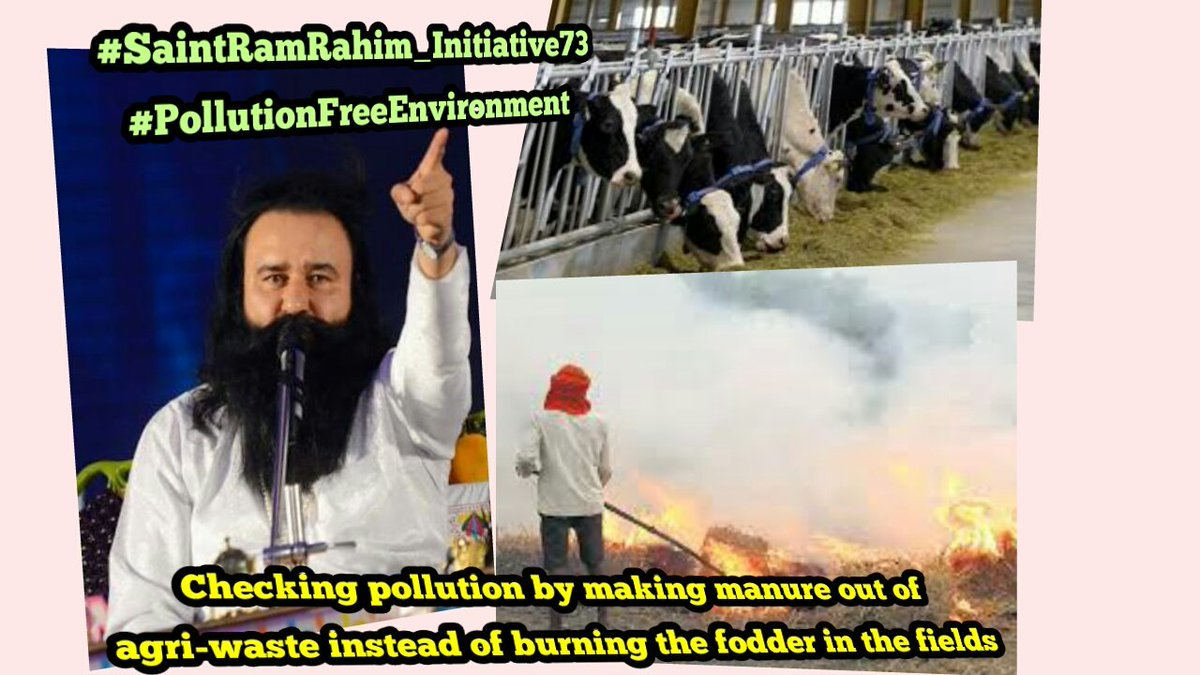 @Gurmeetramrahim #SaintRamRahim_Initiative73 #PollutionFreeEnvironment The effect of burning straw after harvest field crops has a number if harmful effects on environment-- 1)Loss of nutrients 2)Risk of fire spreading out of control 3)Pollution from smoke <br>http://pic.twitter.com/1Y0A4YViz8