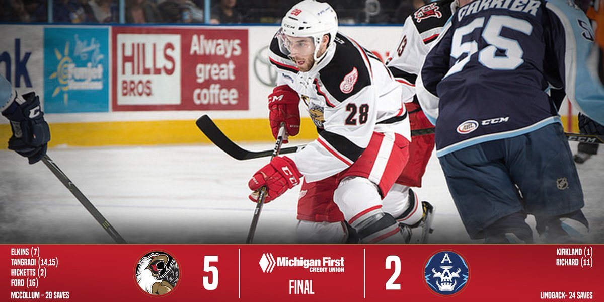 The Griffs win 5-2 over the @mkeadmirals...