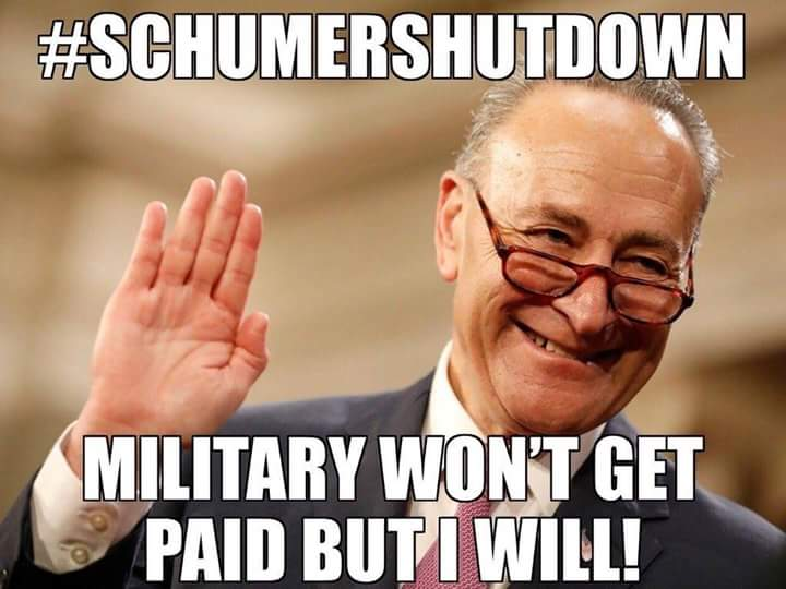 Senators and Congress scum still getting paid during Schumer Shut Down