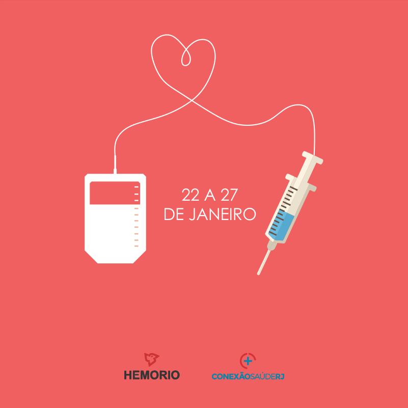 A partir de segunda, 22, tem vacina contra a febre amarela aqui no #Hemorio. Estaremos abertos a partir das 7h até as 18h. A campanha vai até o dia 27 e todos que passarem pela triagem, doando ou não, poderão ser vacinados. Espalhe essa msg, #vemdoar! #febreamarela #temquevacinar