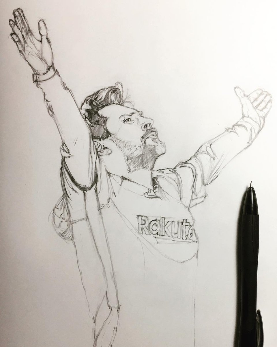 A Fan Drawing Of Messis Recent Celebration At The Bernabeu