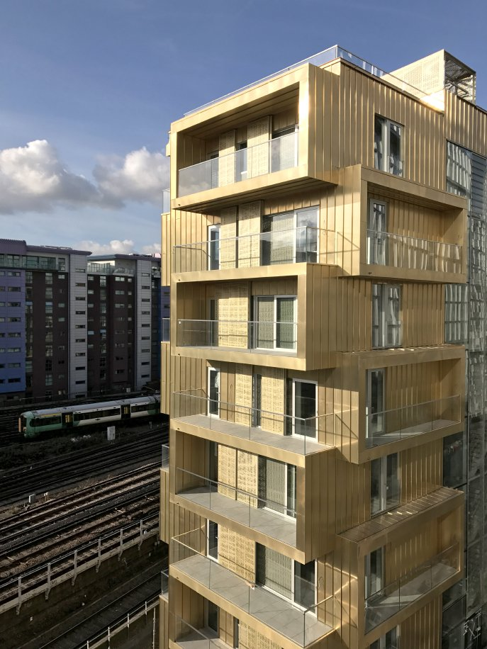 Series Of Stacked Apartments That Shift In Response To The Curve Railway Tracks Generating An Interesting Form Projecting And Recessed