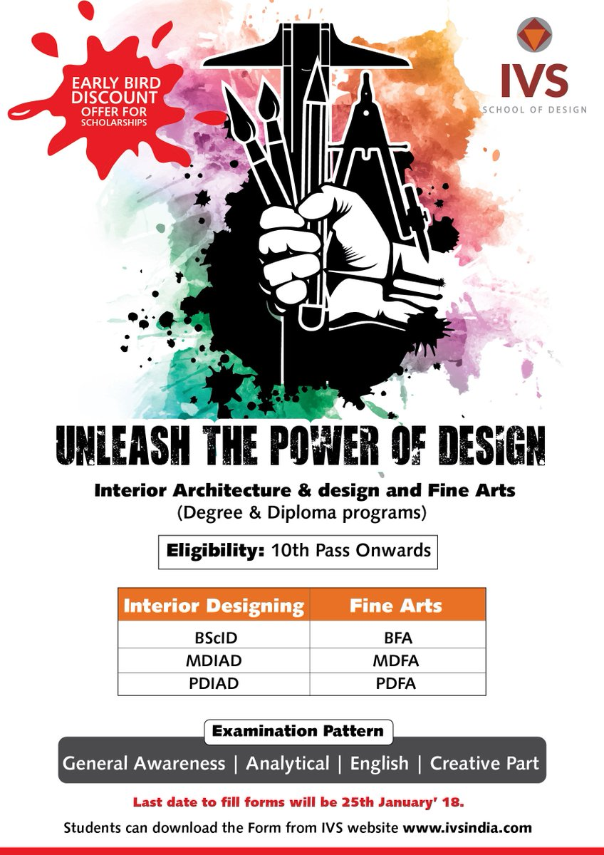 Ivs India On Twitter Crazy For Design And Fine Arts Calling For Ivs Entrance Exam In Interior Designing And Fine Arts Grab The Opportunity Now Https T Co 1n7j0isi85 Https T Co J8fghihq5s