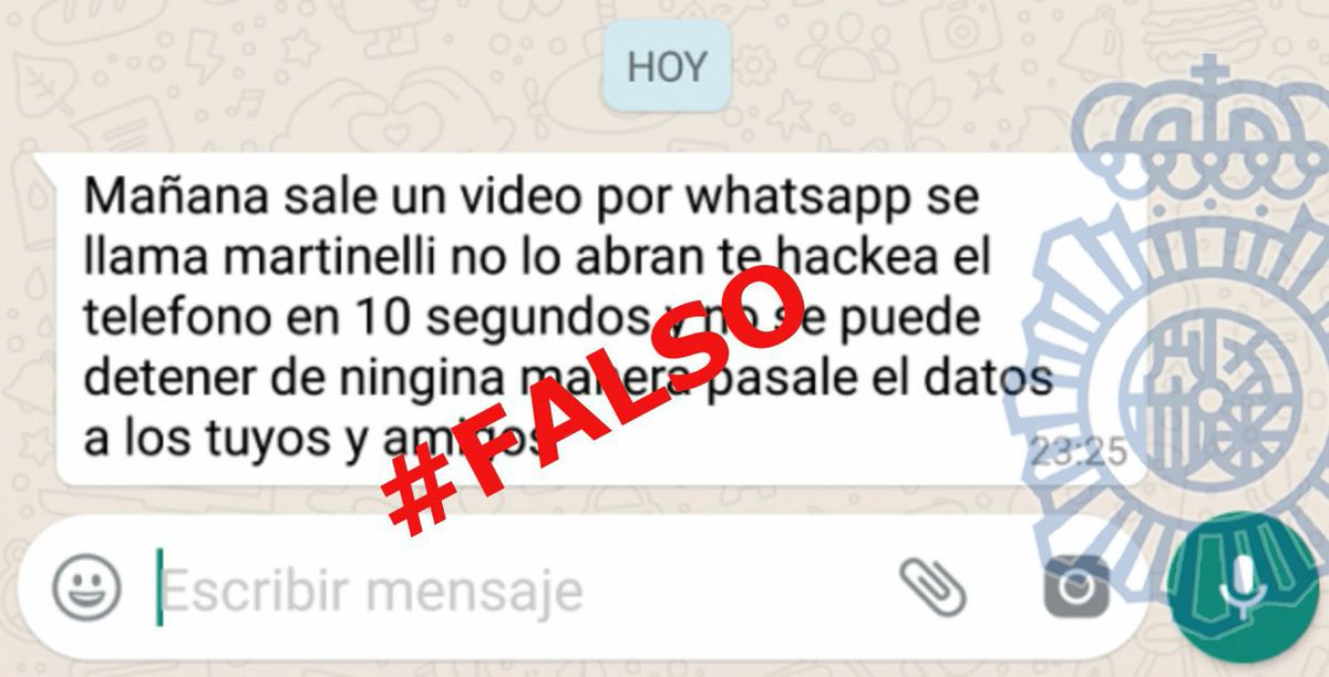 mensaje falso de video martinelli