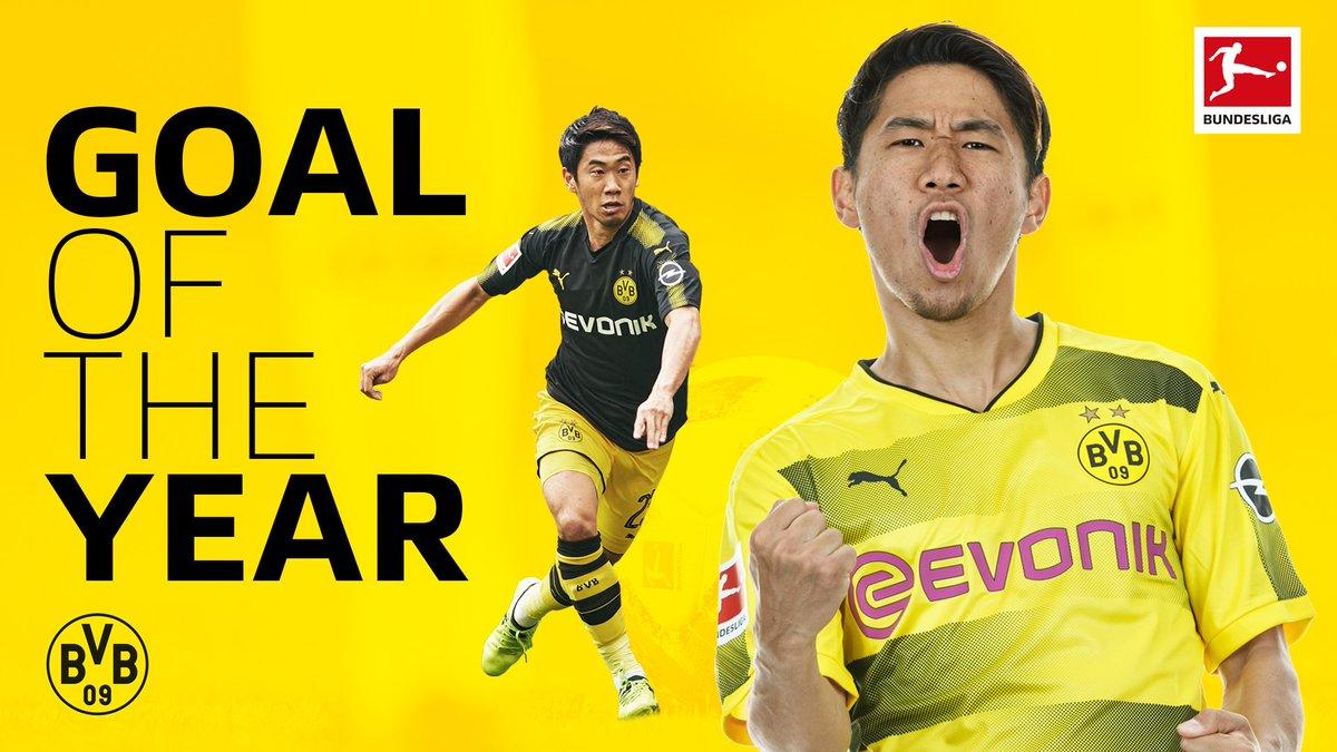 Mit einem gefühlvollen Lupfer machte sich @S_Kagawa0317 zum besten japanischen Torschützen in der #Bundesliga! Dein Tor des Jahres 2017? Dann stimme hier für den @BVB-Star ab: bndsl.ga/aSdlavw #GOTY