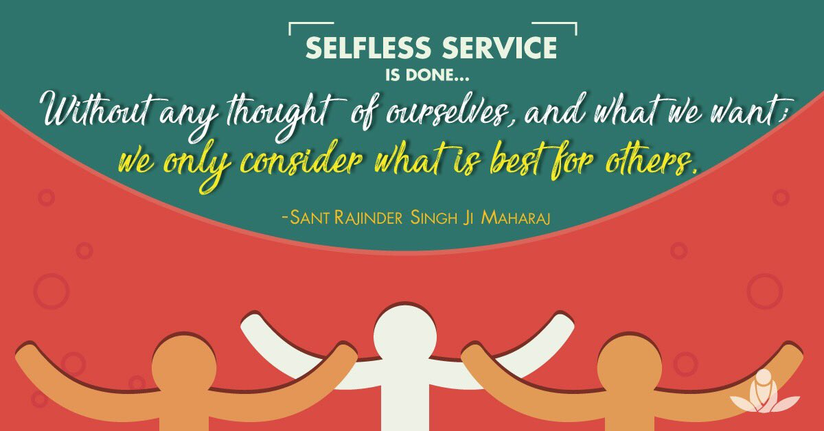 Sos Meditate On Twitter Selfless Service Is Done Without Any