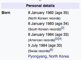 Kim Jong-Un lying about his age like a middle-aged woman at the DMV is iconic. Happy possible birthday, big boi!