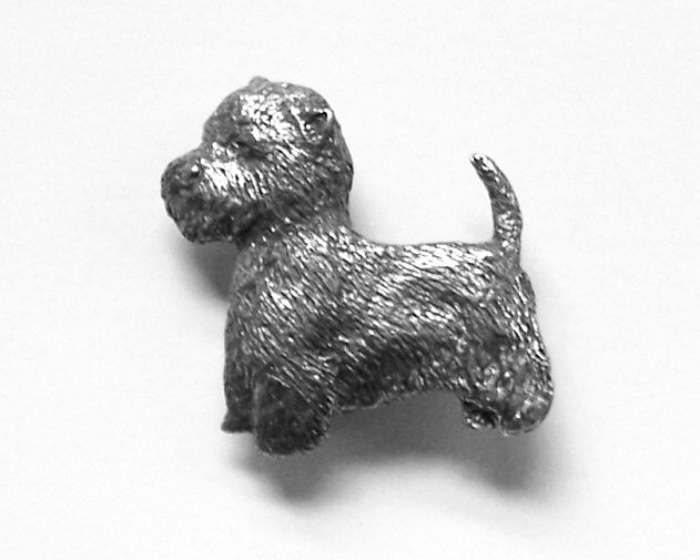 West Highland Terrier Pin in UK Pewter with Gift Box Option Westie Gifts