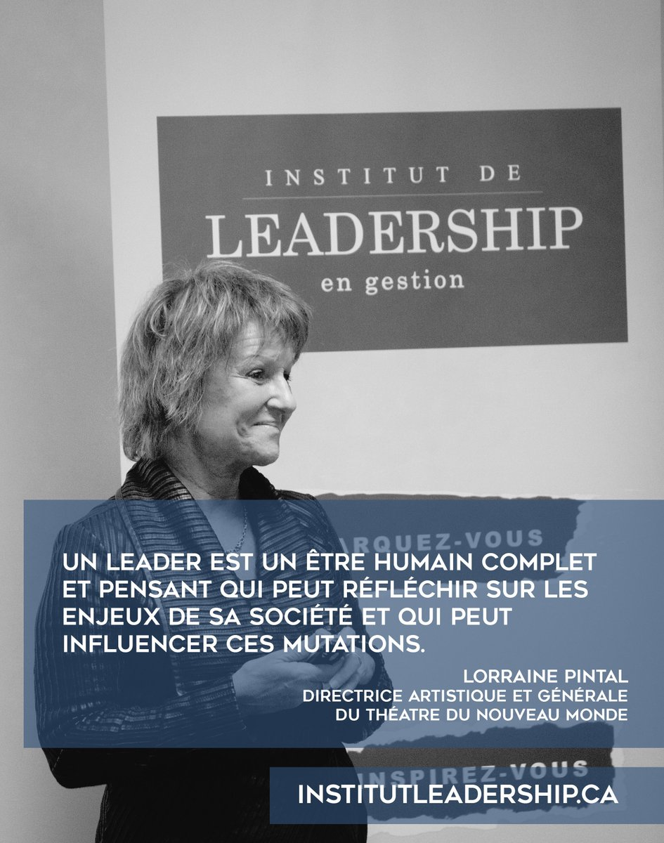 Institut Leadership On Twitter Citation De Lorraine
