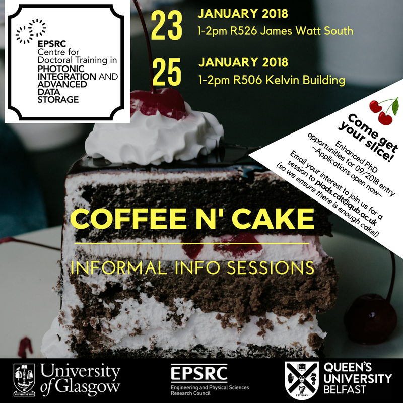 @CDT_PIADS Information session for 09/2018 PhD entry! [apply now online at  http://www. cdt-piads.ac.uk  &nbsp;  ] Join us for coffee, cake and an informal #cdtchat in Jan! @UofGEngineering @UofGPhysAstro @GlasgowChem @UofGSciEngGrads @UofGCareers<br>http://pic.twitter.com/ReclJbEMVC