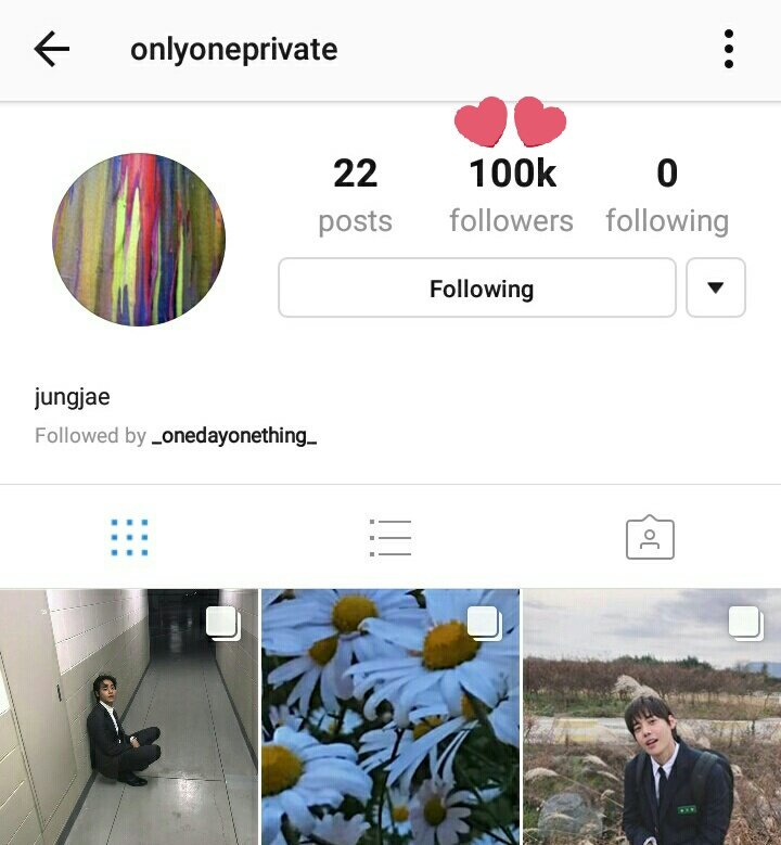 ONE's private instagram has reached 100K followers. ✨ https://t.co/JWm7XYZ1yM