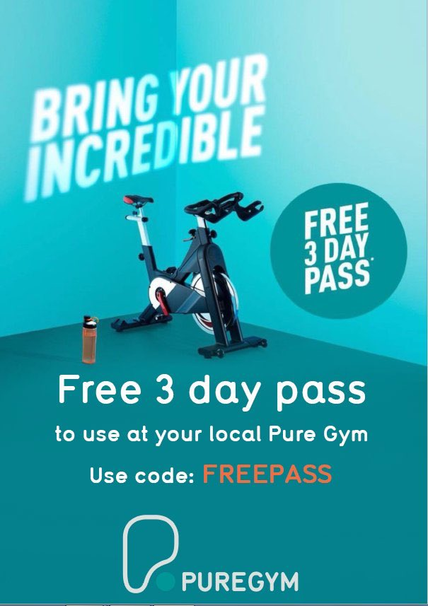 Pure gym day pass voucher