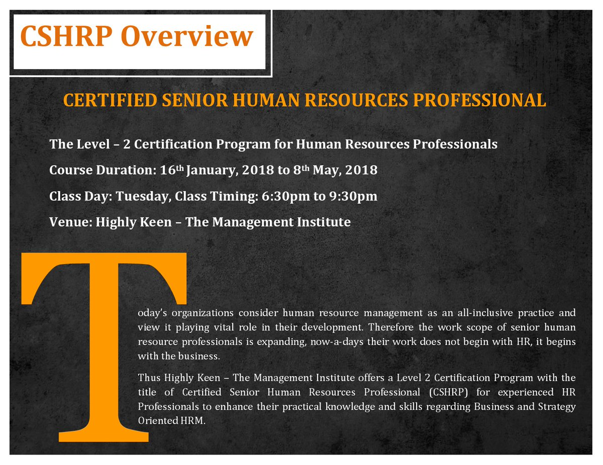 Highly keen highlykeen twitter certification program for senior hr executives assistant hr managers hr generalists starting tuesday 16th jan 2018 class timing 630 930pm 1betcityfo Images