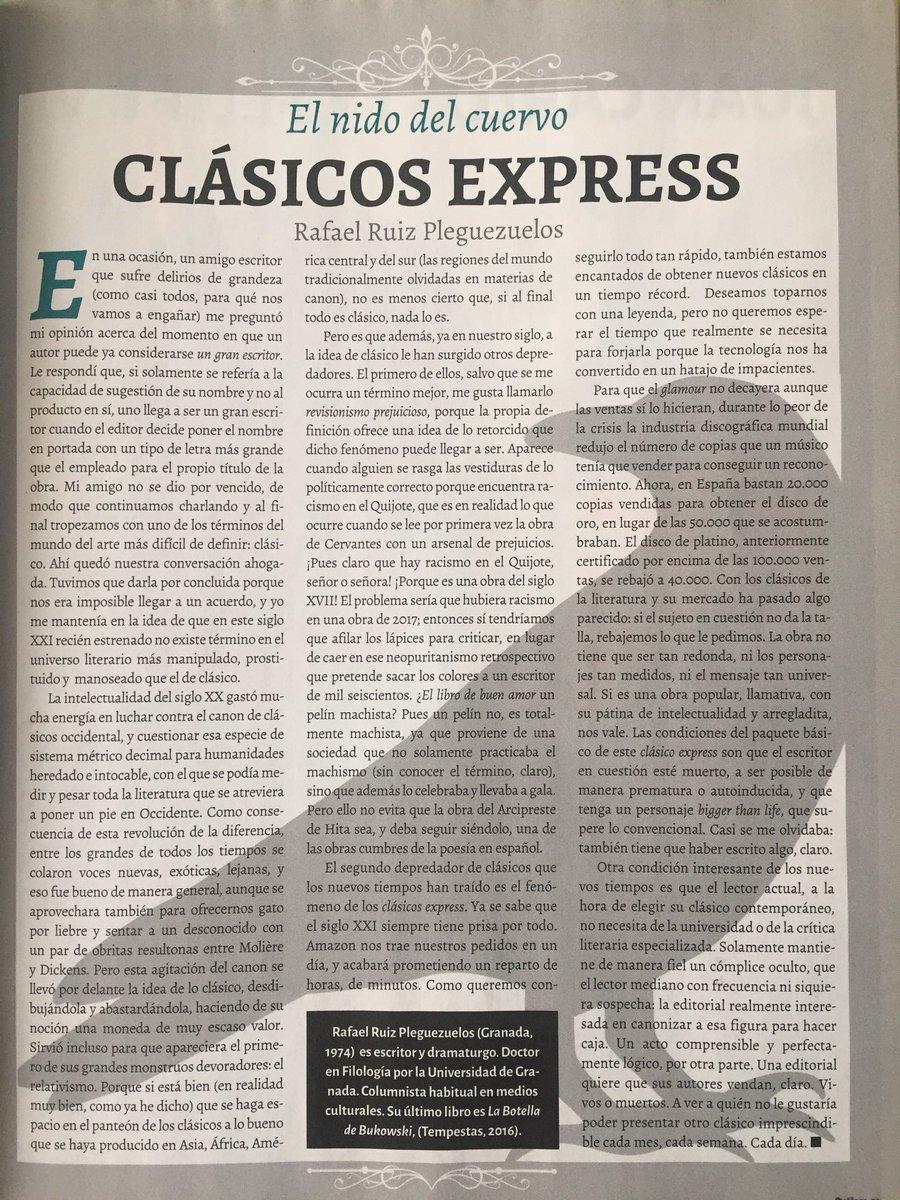 Nuevo artículo de @rpleguezuelos en la @...