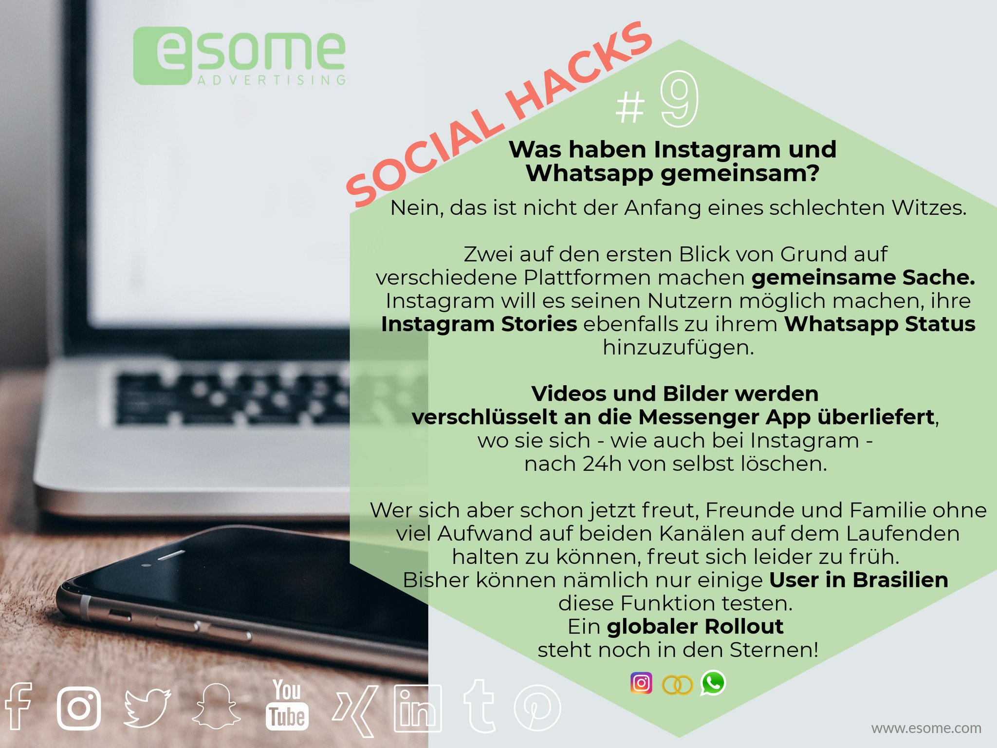Esome Advertising On Twitter Cross Posting Eine Story