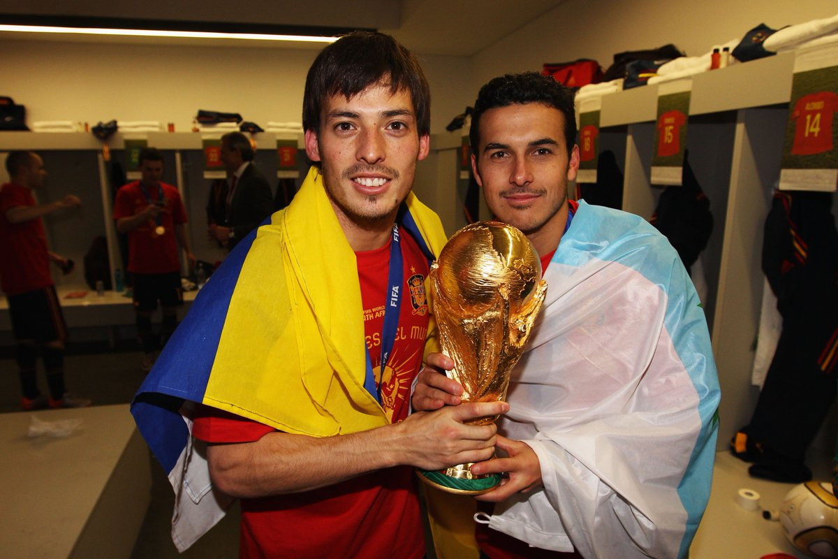 Image result for pedro wins world cup with spain