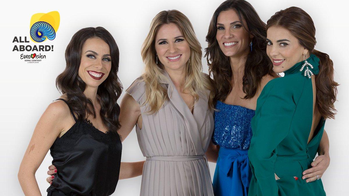 Daniela Ruah, Sílvia Alberto, Filomena Cautela e Catarina Furtado são as apresentadoras escolhidas pela RTP para a #Eurovision2018