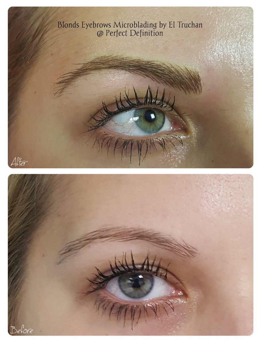 Perfect Definition On Twitter Microblading Eyebrows For Blondes