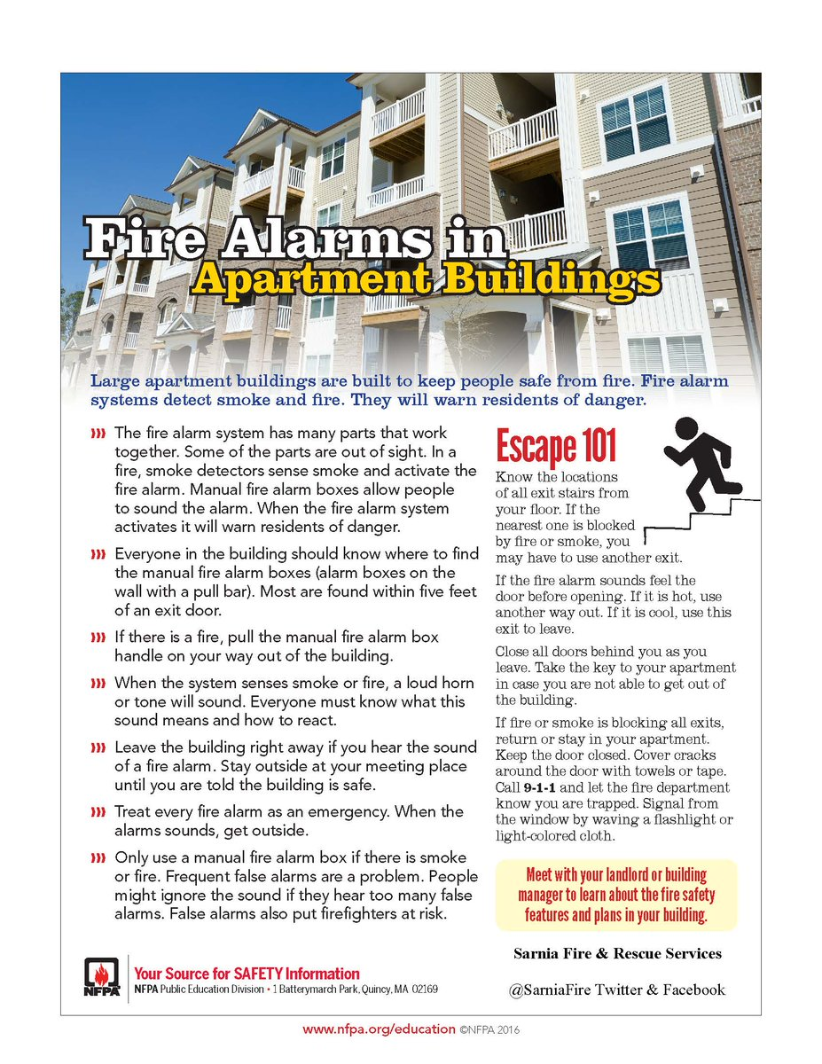 Event Of A Fire In Your Apartment Building These Nfpa Safety Tip Sheets Can Help You Learn Some Great Tips Pic Twitter Awebo0tata