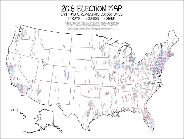 Xkcd Comic On Twitter 2016 Election Map Httpst Co55okph0abj