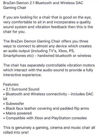 Marvelous Brazen Gaming Chairs On Twitter Brazen Demon 2 1 Bluetooth Evergreenethics Interior Chair Design Evergreenethicsorg