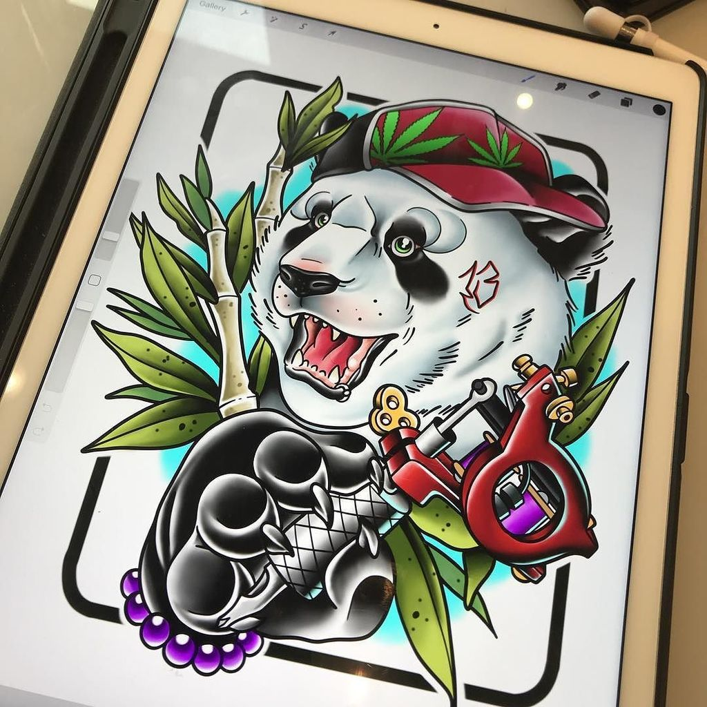 Loved Drawing This Badass Panda Message Me For Info And Appointments Rfillustrationsyahoo 2014103062 Ryanfuttart Tattoo Tattoos