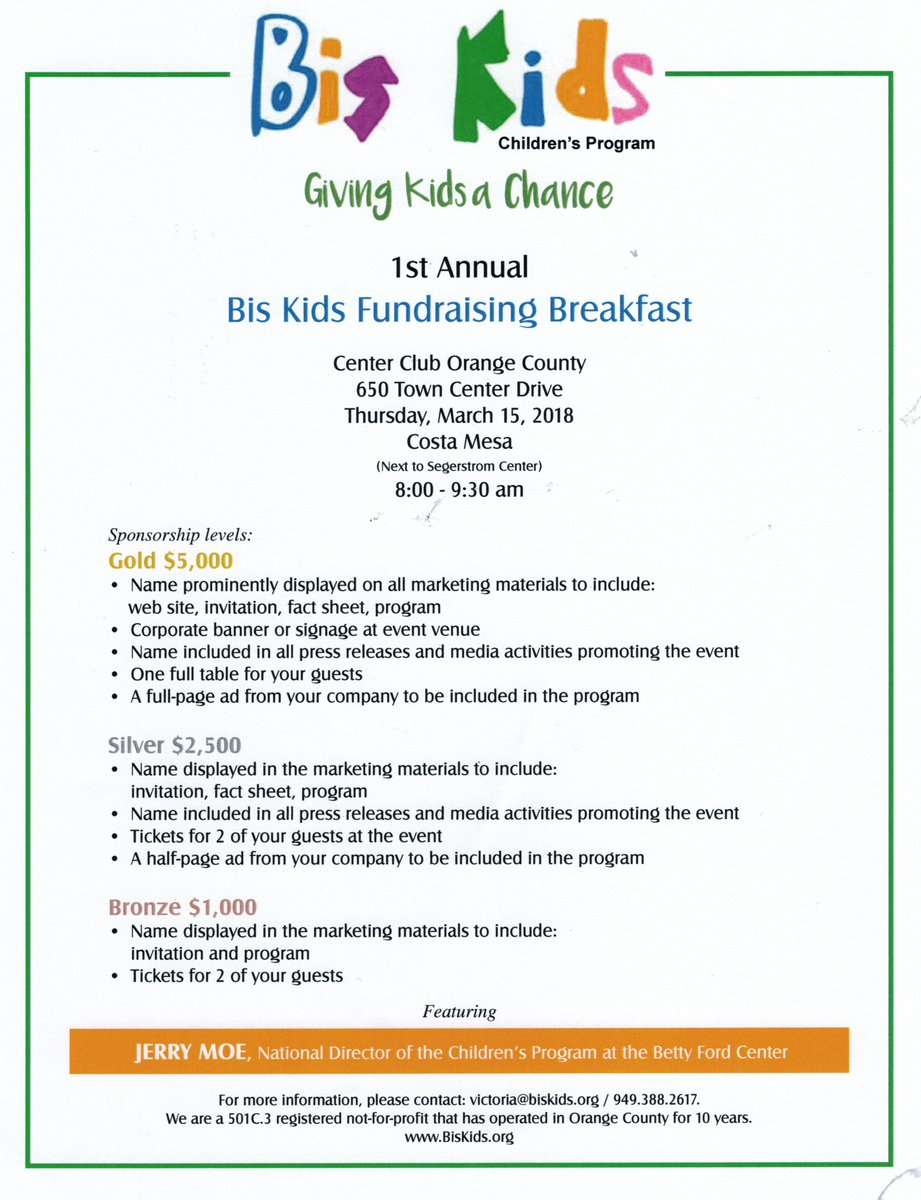 march 15th from 8am to 930am httpwwwbiskidsorg breakfast fundraiser event march joinus support dobate visit website children family love