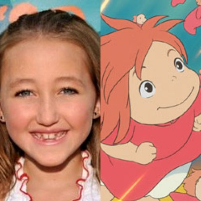 Happy 18th Birthday to Noah Cyrus! The voice of Ponyo. She\s also Miley Cyrus\s sister.