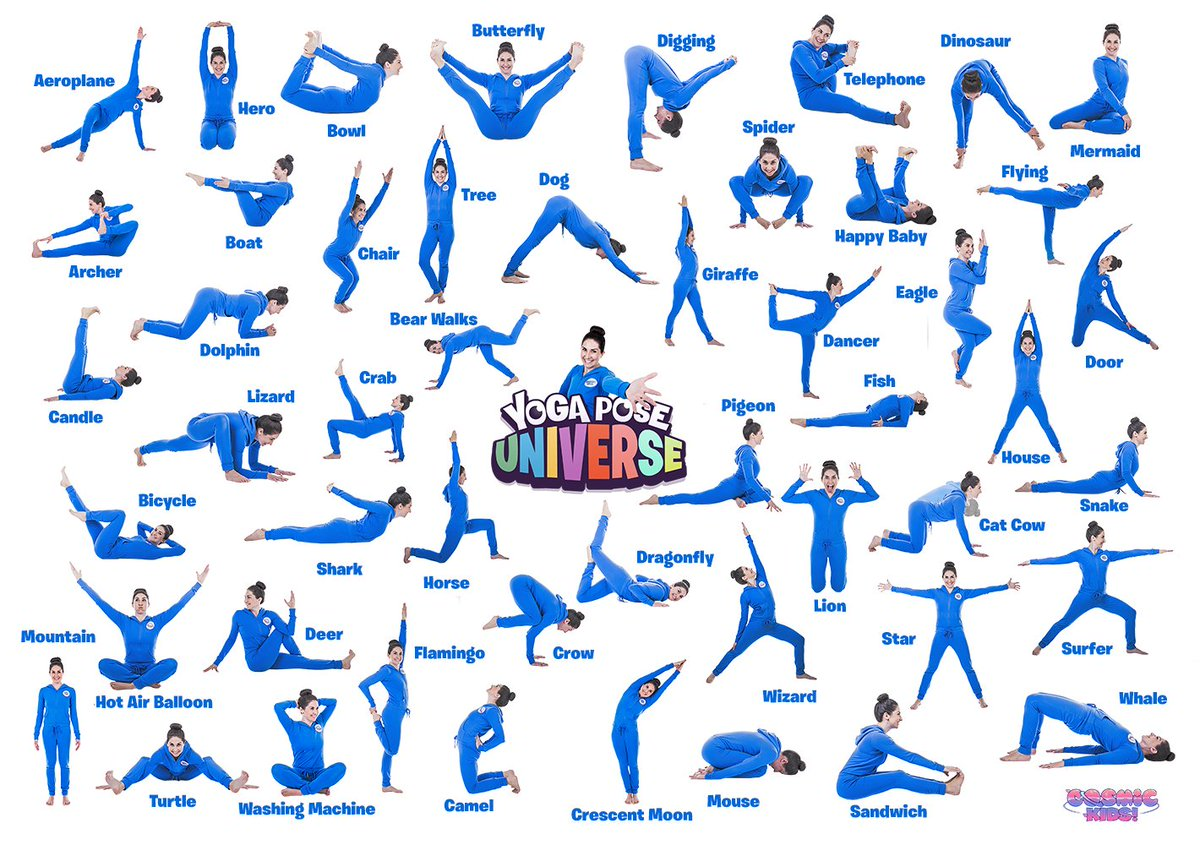 "Cosmic Kids on Twitter: ""Want a FREE yoga pose poster for the"
