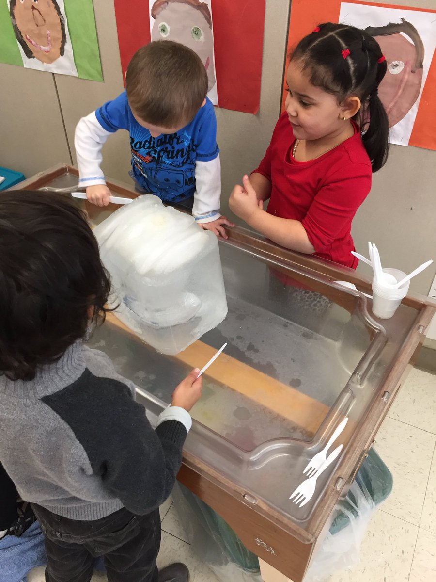 Happy Monday! Pre-k Hawks attempt a tricky ice-block dissection.  Lots of productive inferring about what was inside.