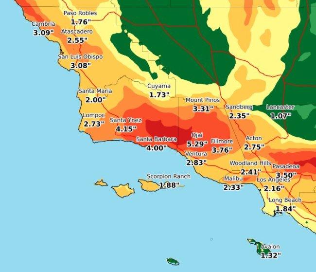 shelby grad on twitter nws ups rain totals 5 in burn zone near ojai. Black Bedroom Furniture Sets. Home Design Ideas