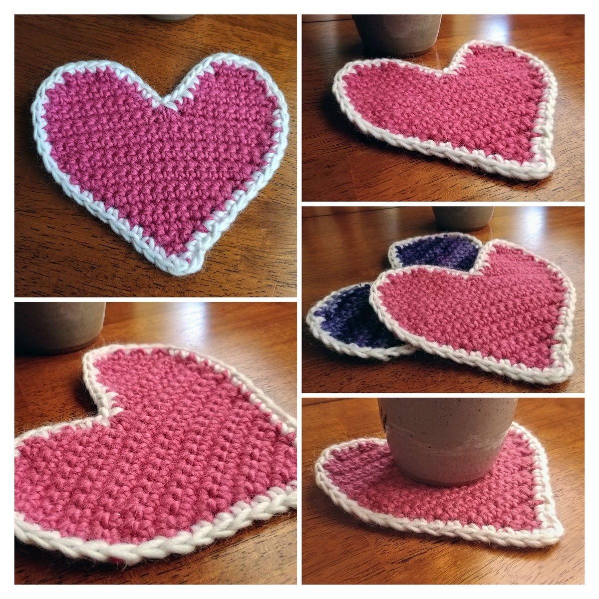 Appypollyollygees On Twitter Pink And White Crochet Heart Shaped