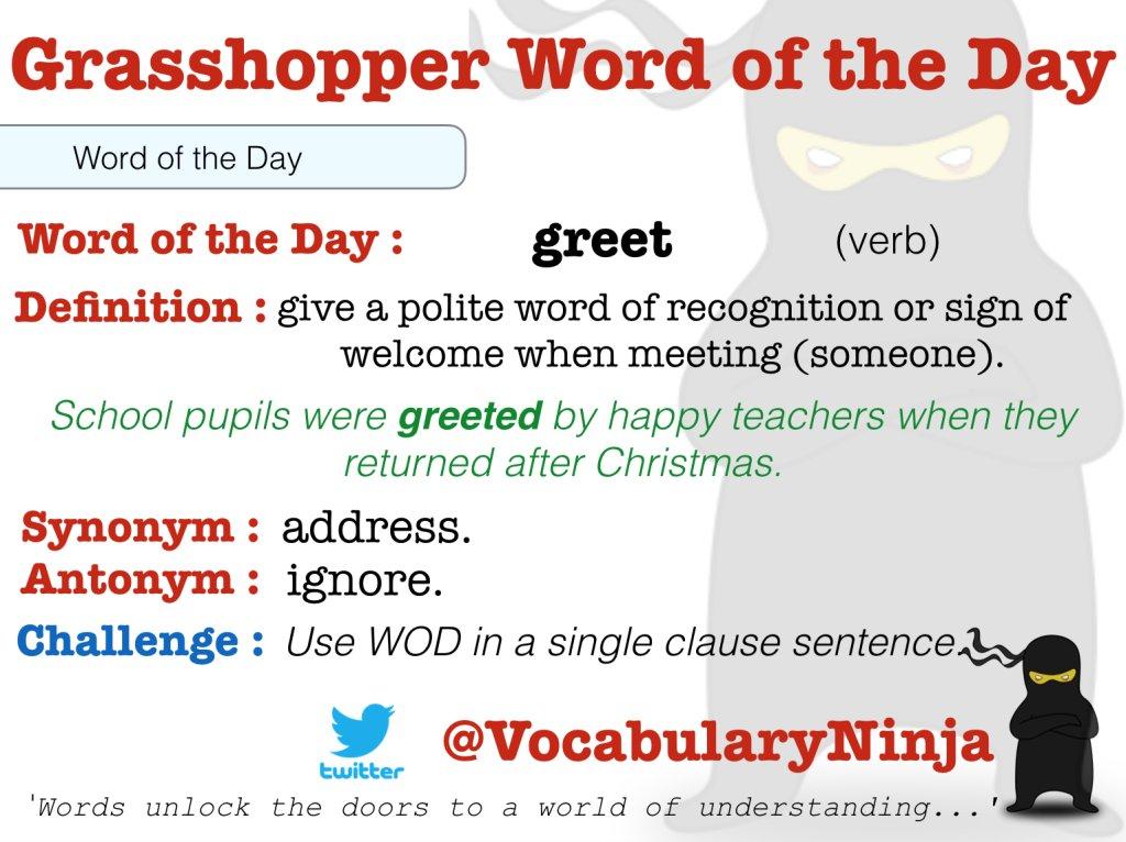 Vocabulary ninja on twitter grasshopper word of the day httpst 1048 am 8 jan 2018 m4hsunfo