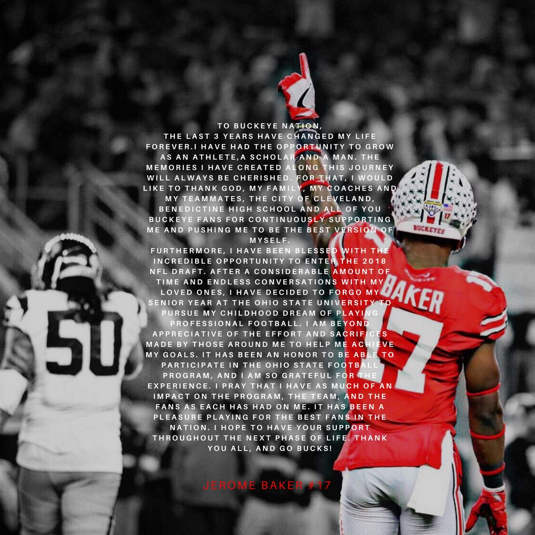 jerome baker ohio state jersey