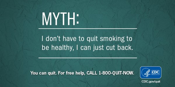 A9: Even light smokers or social smokers can have serious health problems from smoking. #NDAFW