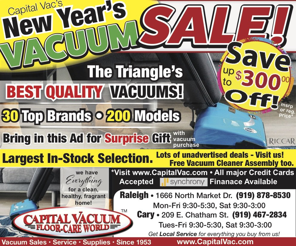 Going On Now At Capital Vacuum Floor Care World In Our Raleigh Nc And Cary S 30 Top Brands Http Www Capitalvac Raleighnc Carync