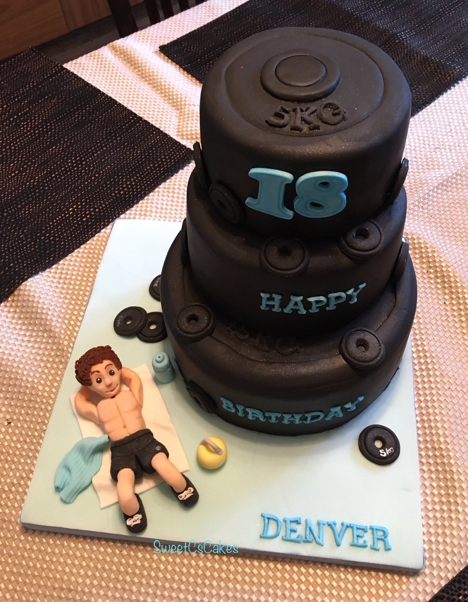 Caroline Walker On Twitter Gym Themed 18th Birthday Cake Xx Gym